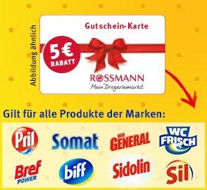 Einkaufsgutschein sichern mit Pril, Somat, Der General, WC Frisch, Bref, biff, Sidolin & Sil