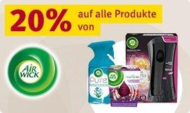 20% Rabatt auf alle Produkte von Air Wick