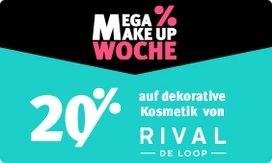 20% Rabatt auf dekorative Kosmetik von Rival de Loop
