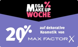 20% Rabatt auf dekorative Kosmetik von Max Factor