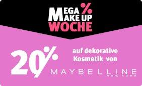 20% Rabatt auf dekorative Kosmetik von Maybelline New York