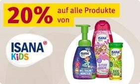 20% Rabatt auf alle Produkte von ISANA Kids