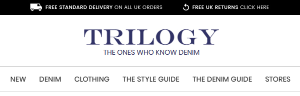 NEW   DENIM   CLOTHING   THE STYLE GUIDE   THE DENIM GUIDE   STORES - Free uk delivery on all orders - International delivery available