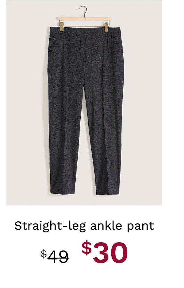 Straight-Leg Ankle Pant