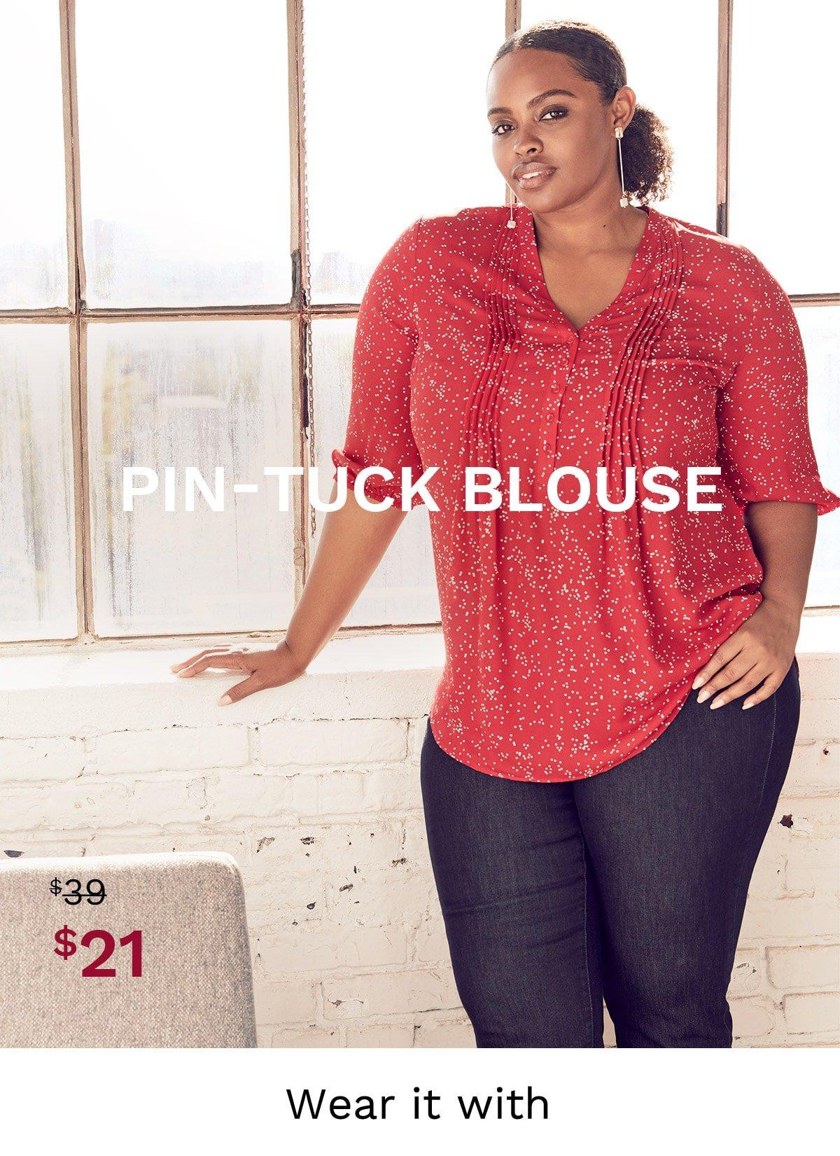 Pin-Tuck Blouse
