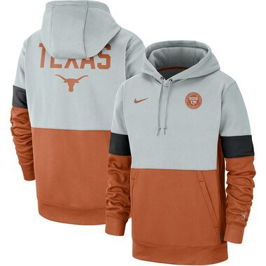 Texas Longhorns Nike Rivalry Therma Performance Pullover Hoodie - Gray/Texas Orange