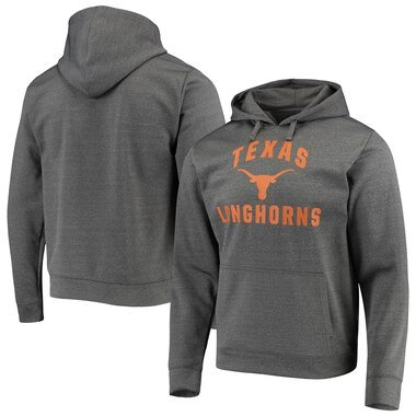 Texas Longhorns Core Arch Pullover Hoodie - Heathered Charcoal
