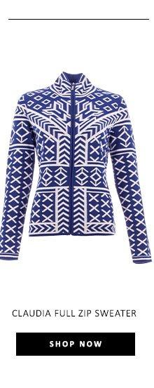 Claudia Full Zip Sweater