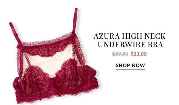 AZURA HIGH NECK UNDERWIRE BRA - WAS $44.50 - NOW $11.00