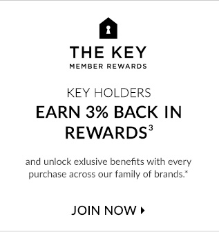 THE KEY MEMBER REWARDS -  KEY HOLDERS EARN 3% BACK IN REWARDS - JOIN NOW