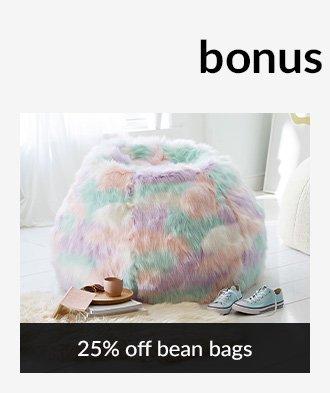 25% OFF BEAN BAGS