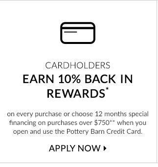 CARDHOLDERS EARN 10% BACK IN REWARDS - APPLY NOW