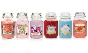 6 candele grandi Yankee Candle