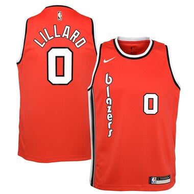 Damian Lillard Portland Trail Blazers Nike Youth Hardwood Classics Swingman Jersey - Red