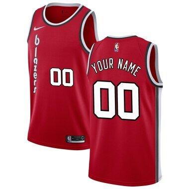 Portland Trail Blazers Nike Hardwood Classics Custom Swingman Jersey - Red