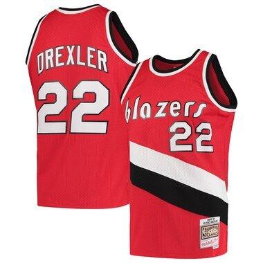 Clyde Drexler Portland Trail Blazers Mitchell & Ness Hardwood Classics 1983-84 Swingman Jersey - Red