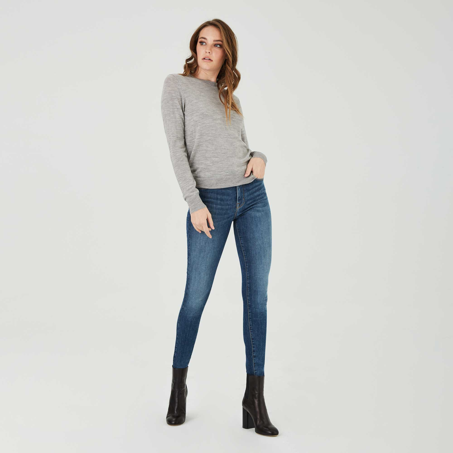 High Rise Skinny Jeans in Two Year Wash