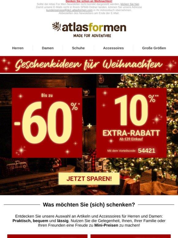 ziemlich cool heißester Verkauf angemessener Preis Atlas for Men: 🎄 10% Extra-Rabatt auf unsere Geschenkideen ...