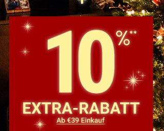 10 prozent extra-rabatt**