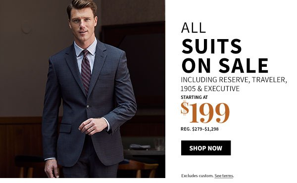 All Suits on Sale starting at $199