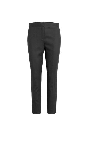 Bibiana Textured Suiting Cigarette Pant - Black