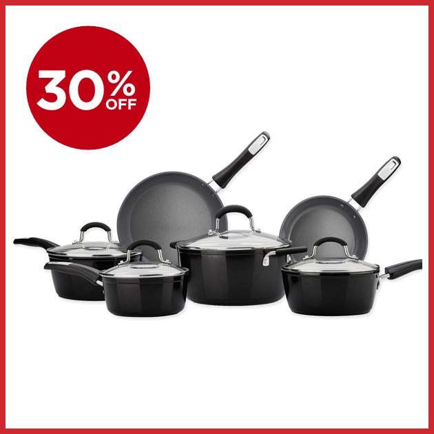 30% OFF Bialetti® 10-Piece Ceramic Cookware Set