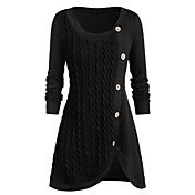 Women's Solid Colored Long Sleeve Pullove...