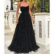 Women's Elegant Swing Dress - Polka Dot P...