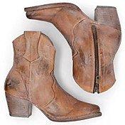 Women's Boots Chunky Heel Pointed Toe PU ...