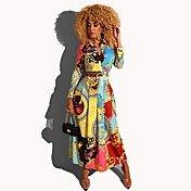 Women's Elegant A Line Dress - Geometric ...