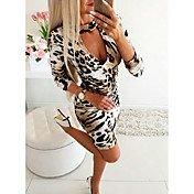 Women's Daily Wear Basic Sheath Dress - L...