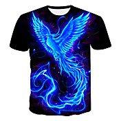 Men's Plus Size T-shirt - 3D / Animal / C...