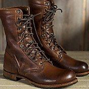 Women's Boots Comfort Shoes Flat Heel Rou...