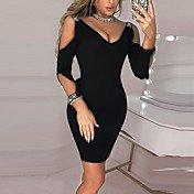 Women's Daily Wear Basic Sheath Dress - S...