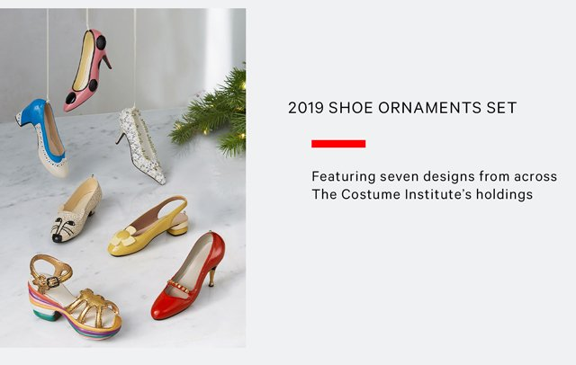 2019 Shoe Ornaments Set | Featuring seven designs from across The Costume Insitute's holdings