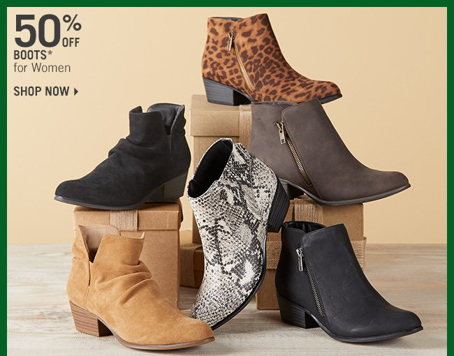 Shop 50% Off Boots* for Women