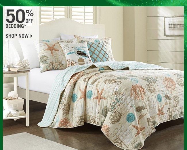 Shop 50% Off Bedding*