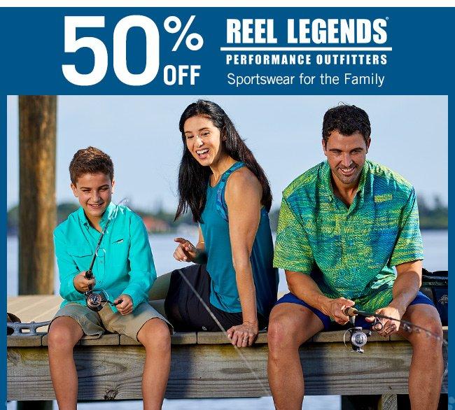 Shop 50% Off Reel Legends Sportswear for the Family