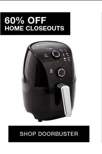 60% off home closeouts shop doorbuster