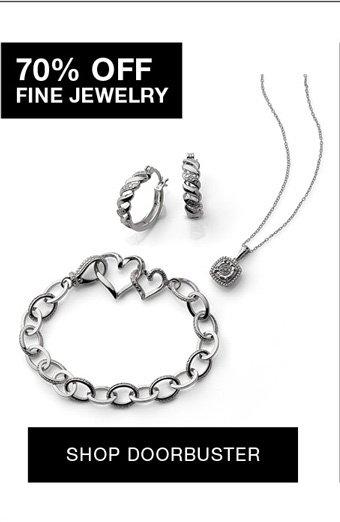 70% off fine jewelry shop doorbuster
