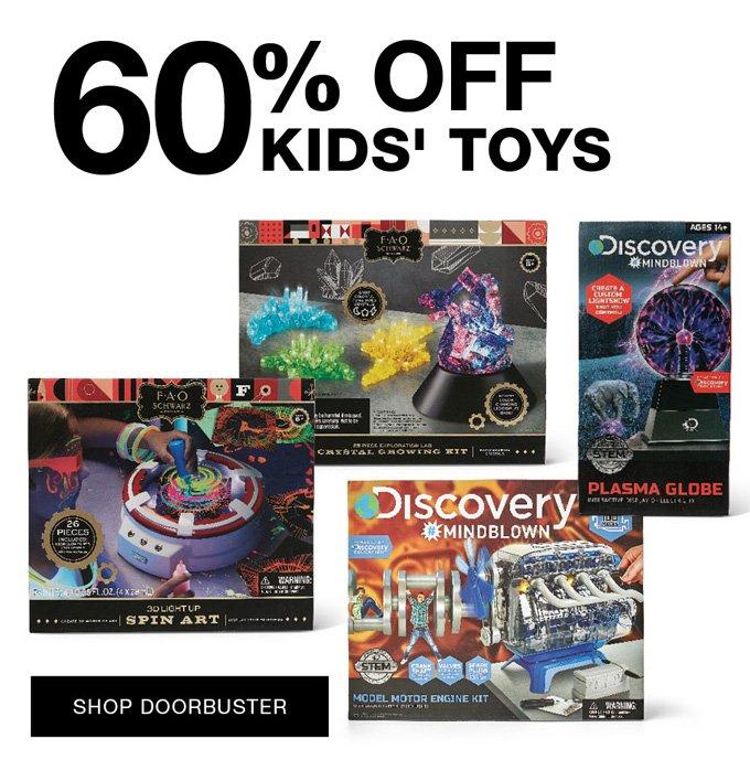Shop all doorbusters 60% off kids' toys