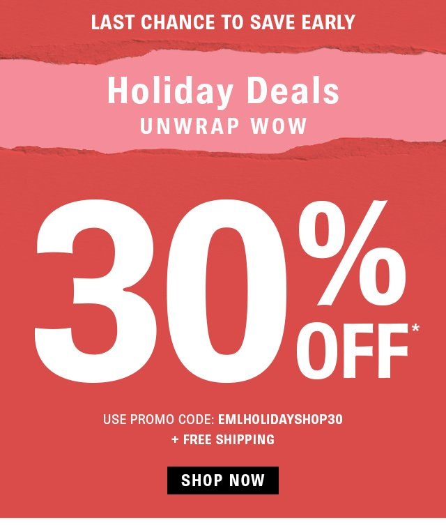 EMAIL EXCLUSIVE: First Look At Holiday Deals!