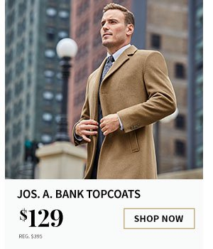 $129 Jos. A. Bank Topcoats