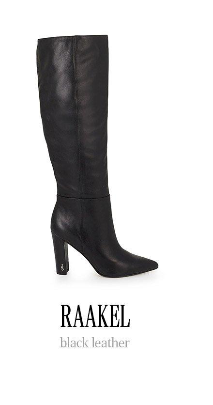 RAAKEL black leather