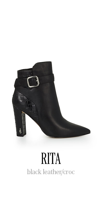 RITA black leather / croc