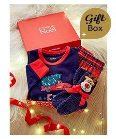 Merry Christmas Gift Box with Pyjamas