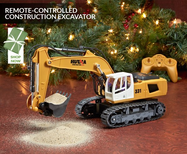 REMOTE-CONTROLLED CONSTRUCTION EXCAVATOR