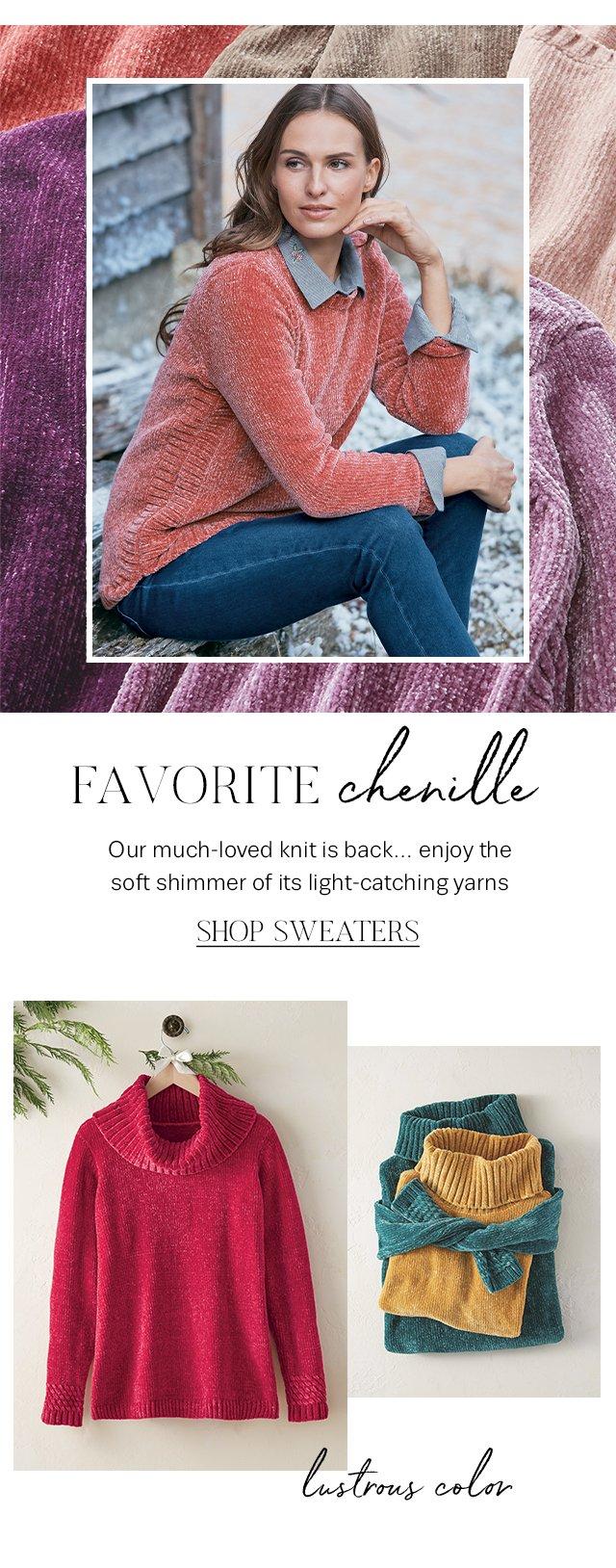 Shop the favorite chenille knit.