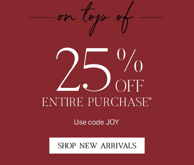 Stack this 25% off offer.