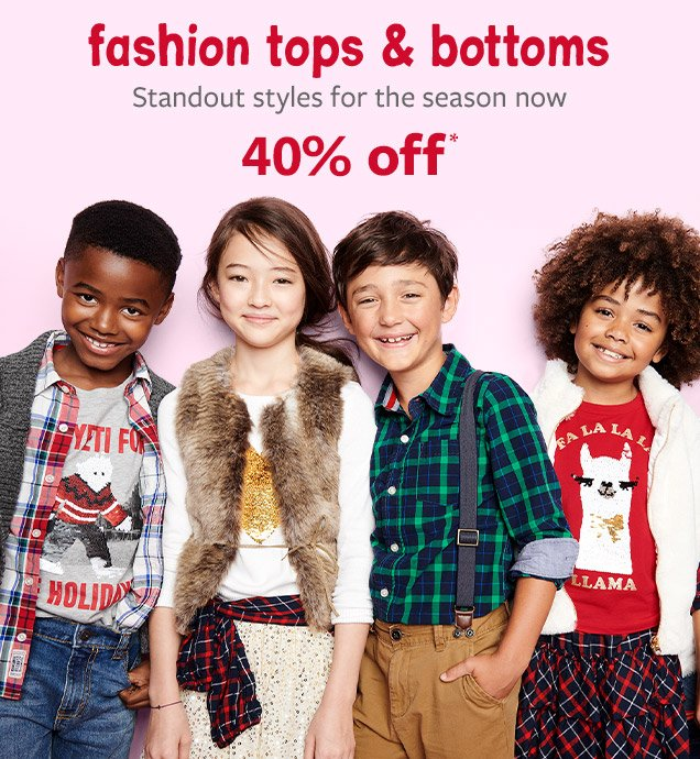fashion tops & bottoms   Standout styles for the season now 40% off*